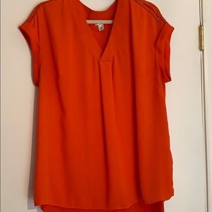 Ava and Viv red blouse 1x loose fit